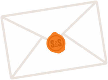 An illustration of an envelope with a wax seal.